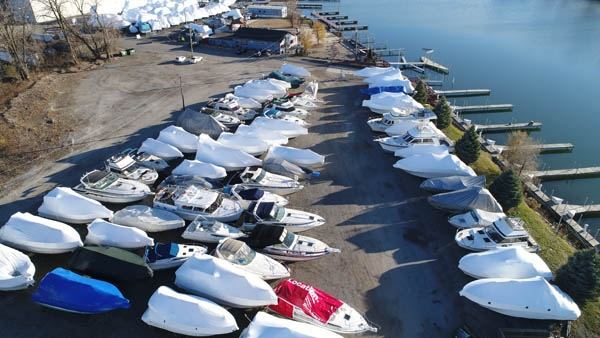 Chicago marina boat storage.