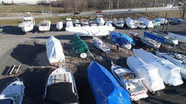 Chicago outdoor boat storage.