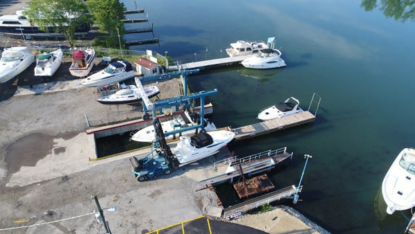 Sunset Bay Marina boat lift.